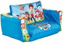 Canapé lit gonflable enfant pat patrouille en