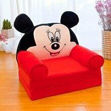 Canapé Lit Rouge Enfant Fauteuil Confortable pour