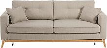Canapé-lit style scandinave 3 places beige