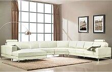 Canapé panoramique 7 places cuir supérieur