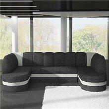 Canapé panoramique convertible gris anthracite et