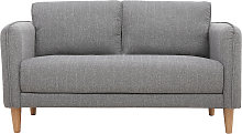 Canapé scandinave 2 places gris clair KURT -