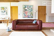 Canapé scandinave Krieger 2 places style vintage