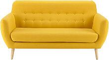 Canapé style scandinave 2/3 places jaune