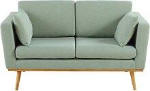 Canapé vintage 2 places vert de gris