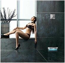 Caniveau de douche mural Scada | Grille lisse pour