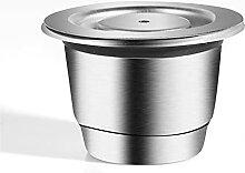 Capsules de café réutilisables en acier