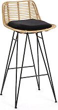 Capurgana - Chaise de bar design en rotin 67cm