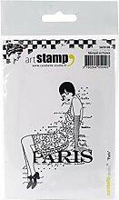 Carabelle Studio SA70128 Tampon Cling Art, Paris,