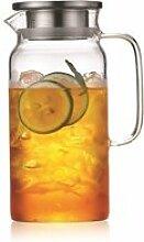 Carafe à eau couvercle en inox 1,2 litres
