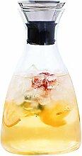 Carafe à eau en verre avec filtre à fruits et