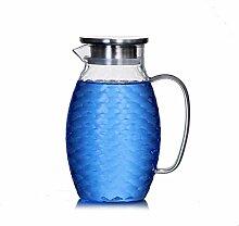 Carafe à eau en verre, facile à nettoyer,