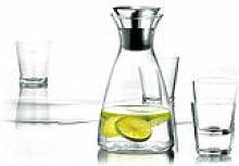 Carafe Stoppe-goutte / Set carafe + 4 verres - Eva