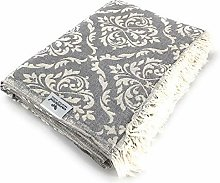 Carenesse couvre-lit BAROQUE gris, armure noble