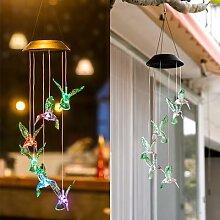 Carillons éoliens en forme de colibri à énergie