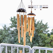 Carillons éoliens, marron, en bambou (plus grand,
