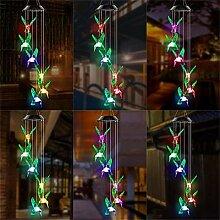 Carillons éoliens suspendus en plein air, lampes