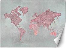 Carowall Photo Murale Intisse Continents Carte Du