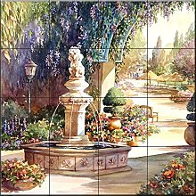 Carreaux de céramique murale - Fontaine - par