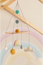 Carrousel pour lit de bébé Izaro en coton pour