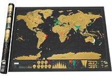Carte à gratter scratch map édition deluxe