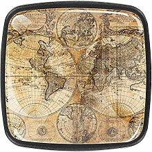Carte ancienne Bouton de Tiroir carrées Armoire