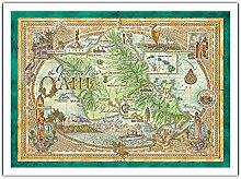 Carte D'oahu, Le Lieu De Rassemblement - Carte