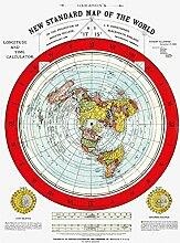 Carte de la Terre plate – Carte du Monde