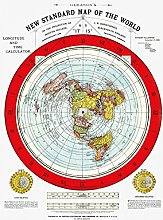 Carte de la Terre plate – Nouvelle carte