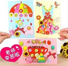 Carte de vœux stéréo pour enfant, carte de