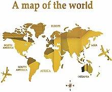 Carte du Monde 3D Stickers Muraux Décoration