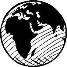 Carte du monde (55 x 55 cm) Décoration murale en