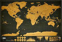 Carte du monde à gratter 82,5x59,5cm