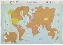 Carte Du Monde à Gratter 83x56 cm
