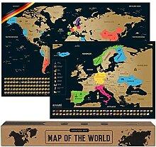 Carte du Monde a gratter - Allemand