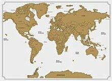 Carte du monde à gratter blanc Autres Blanc