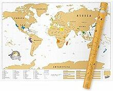 Carte du monde à gratter - Carte du monde