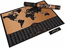 Carte du monde à gratter Edition Aventure