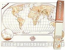 Carte du monde à gratter Edition Magnétique