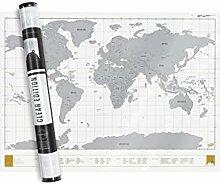 Carte du monde à gratter Edition Transparence