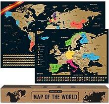 Carte du Monde a gratter - Espagnol