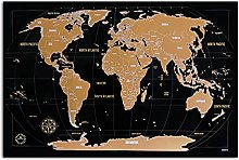 Carte du monde à gratter - Kronewerk - Cadeau