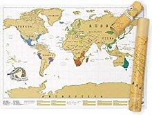 Carte du Monde à Gratter, Mappemonde à Gratter,