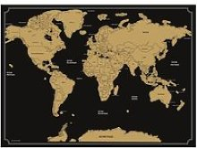 Carte du monde à gratter noir Autres Noir