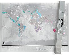 Carte du Monde à Gratter Platinum, Révélez les