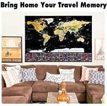 Carte du Monde à Gratter Scratch Map Drapeaux