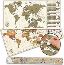 Carte du monde à gratter XXL – Carte du monde