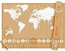 Carte du monde à Tamponner