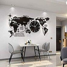 Carte Du Monde Acrylique 3D Avec Horloges,