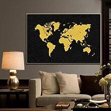 Carte du monde Affiches et impressions Carte du